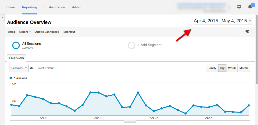 google analytics date range