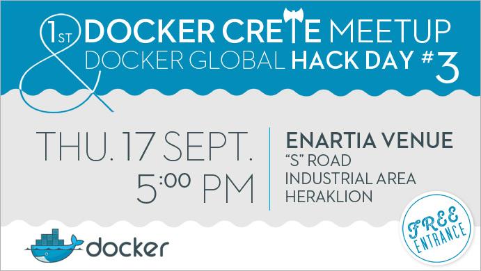 Έρχεται το 1ο Docker Crete Meetup από την TopHost και το Papaki!