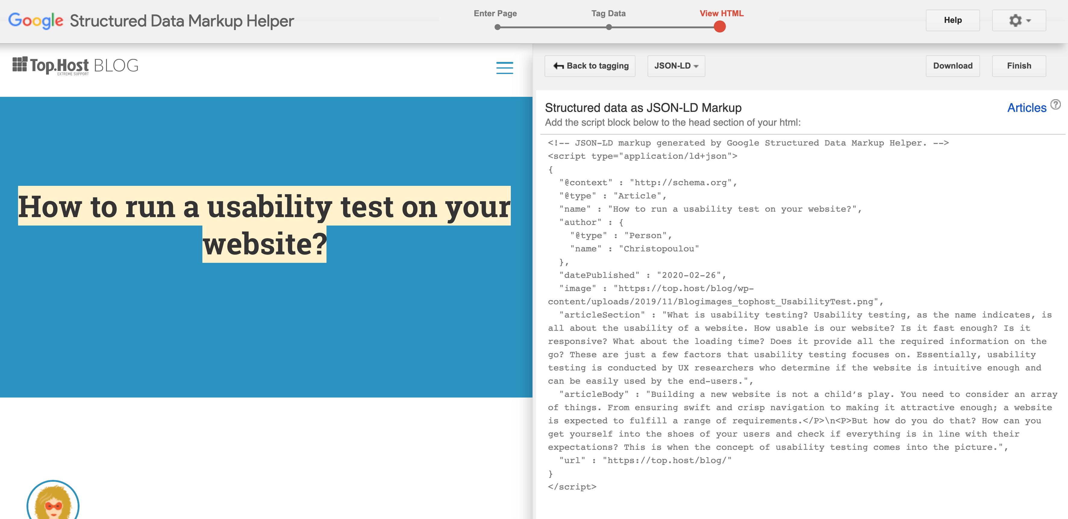 schema markup html